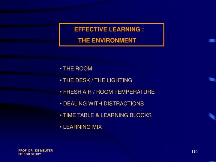 EFFECTIVE LEARNING :