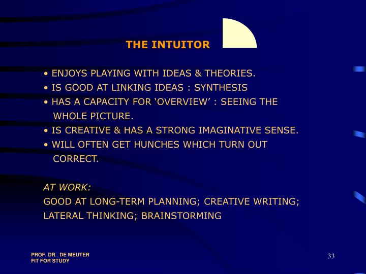 THE INTUITOR