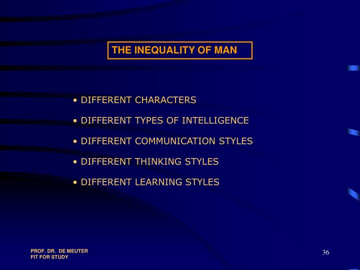 THE INEQUALITY OF MAN