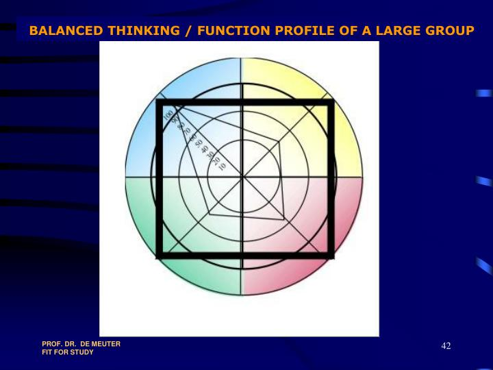 BALANCED THINKING / FUNCTION PROFILE OF A LARGE GROUP