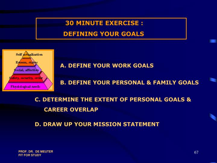 30 MINUTE EXERCISE :