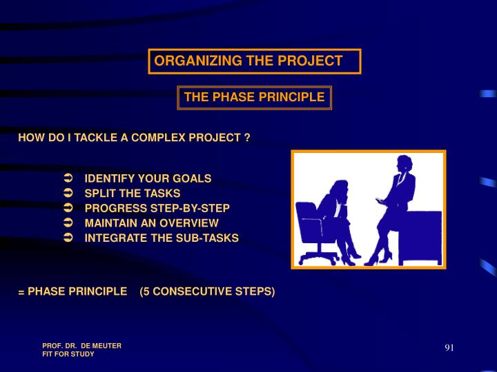 HOW DO I TACKLE A COMPLEX PROJECT ?