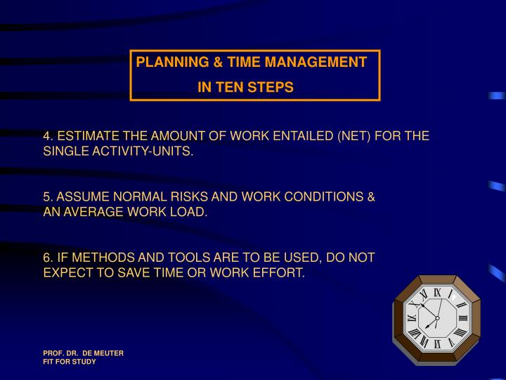 4. ESTIMATE THE AMOUNT OF WORK ENTAILED (NET) FOR THE