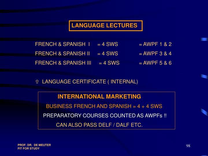 LANGUAGE LECTURES