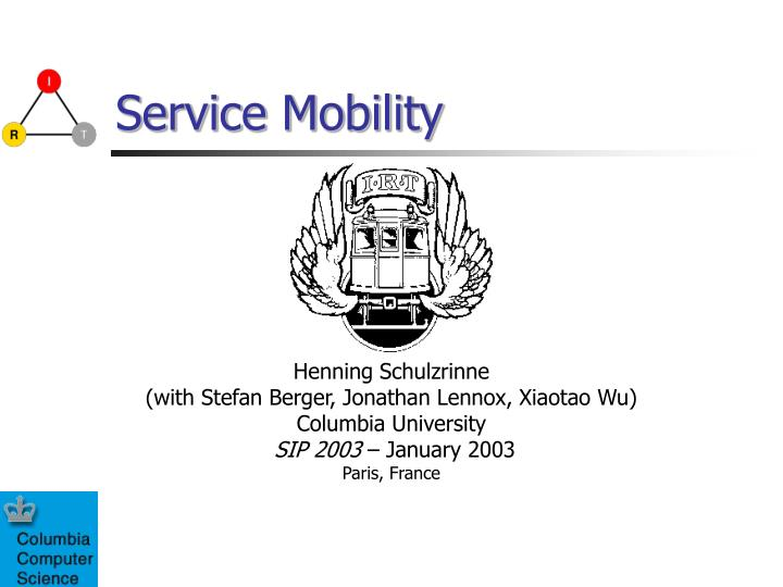 service mobility n.