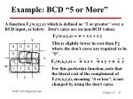 example bcd 5 or more