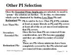 other pi selection