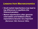 lessons from macroeconomics