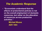 the academic response1