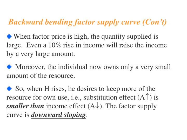 factor substitution effect