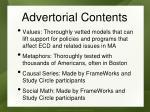 advertorial contents
