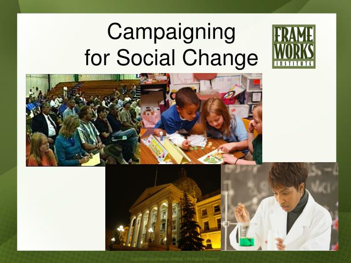 campaigning for social change