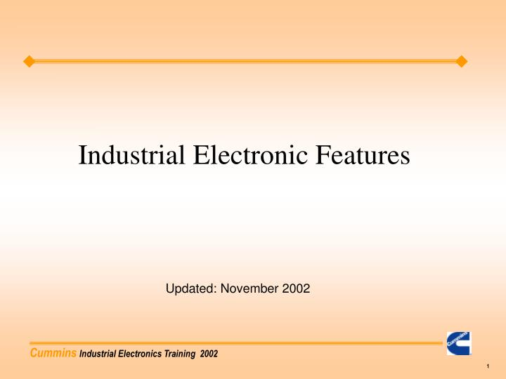 industrial electronic features n.