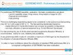 estremo wxt preliminary consideration