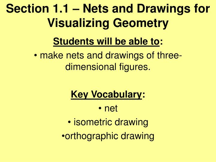 section 1 1 nets and drawings for visualizing geometry n.