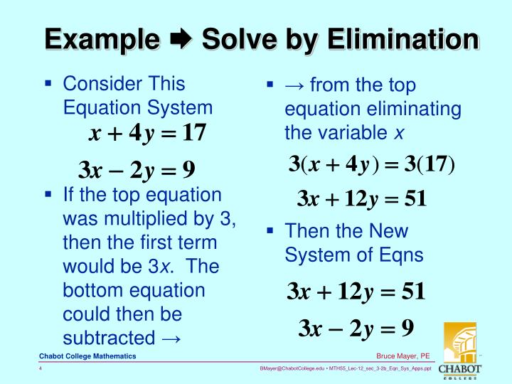 Consider This Equation System