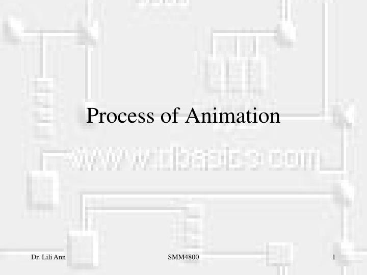 process of animation n.