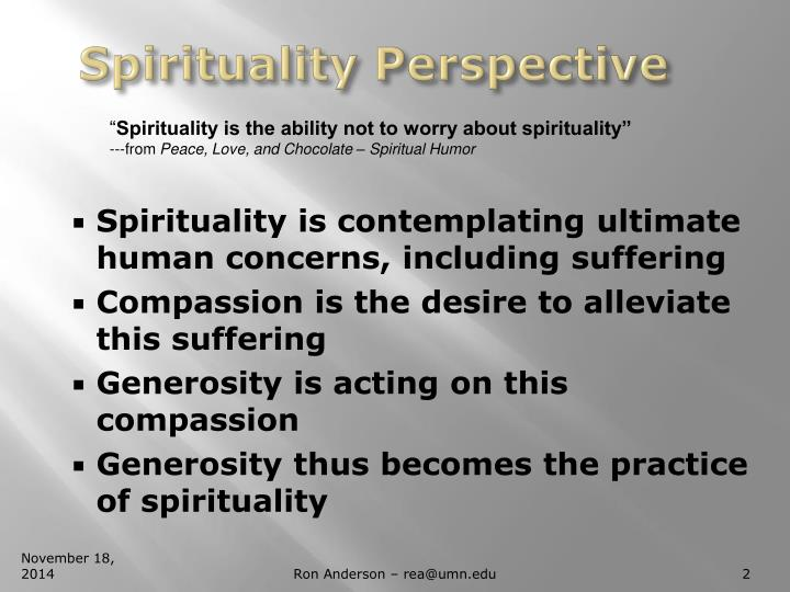 Spirituality perspective