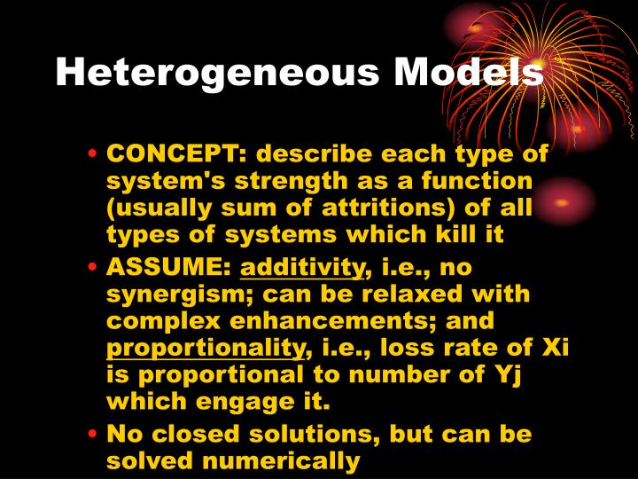 Heterogeneous Models