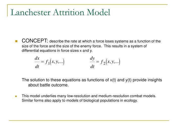 Lanchester Attrition Model