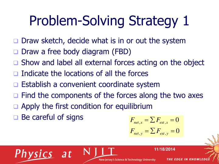 Problem-Solving Strategy 1