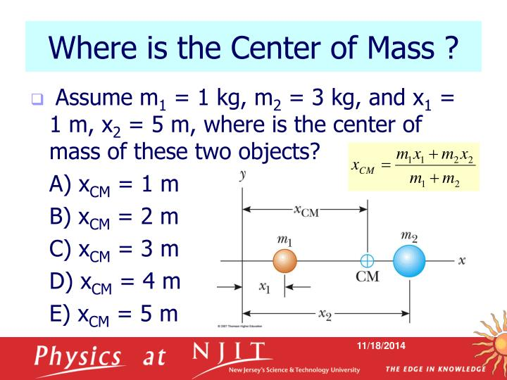 Where is the Center of Mass ?
