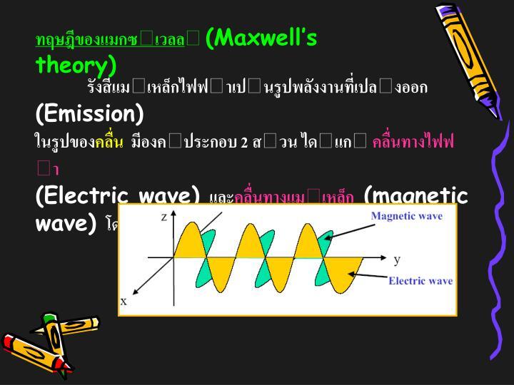 ทฤษฎีของแมกซเวลล