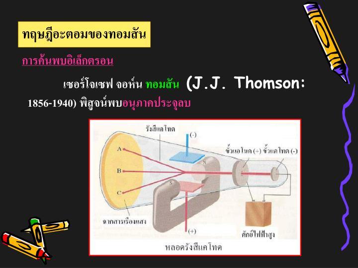 ทฤษฎีอะตอมของทอมสัน