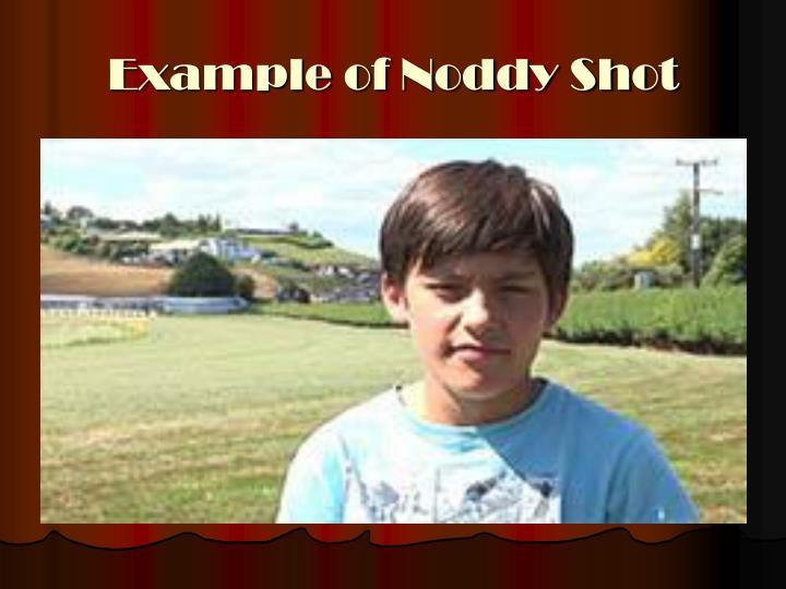 Example of Noddy Shot