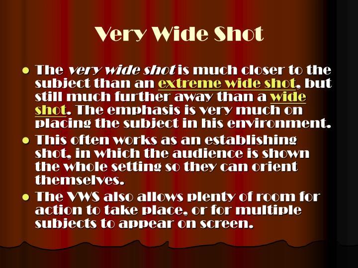 Very Wide Shot