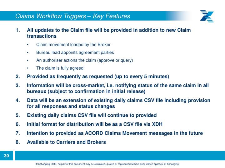 Claims Workflow Triggers – Key Features