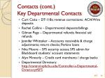 contacts cont key departmental contacts