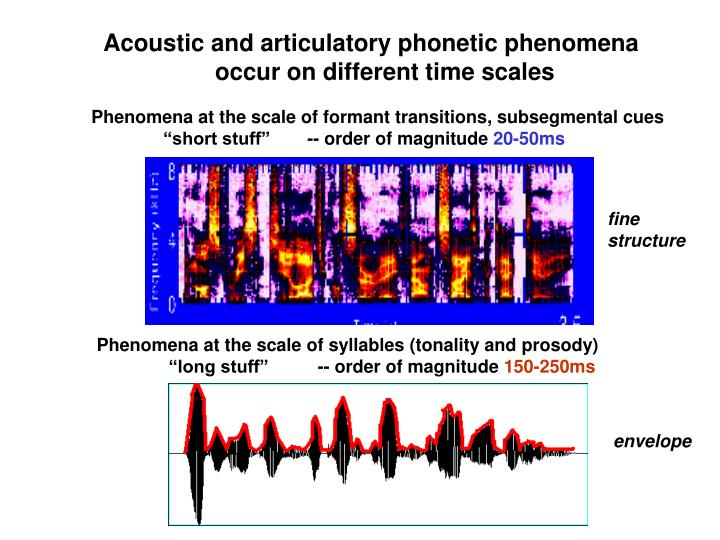 Phenomena at the scale of formant transitions, subsegmental cues