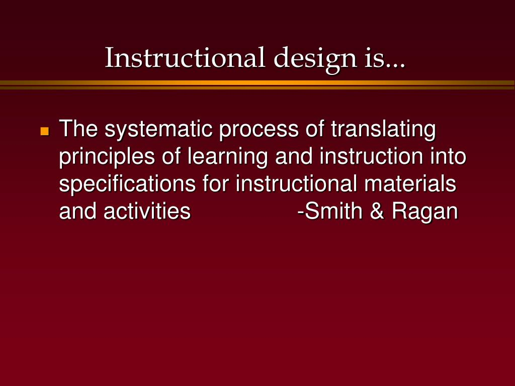 Ppt The Instructional Design Process Powerpoint Presentation Free Download Id 6782060