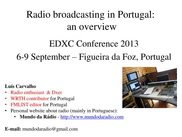 Radio broadcasting in portugal an overview