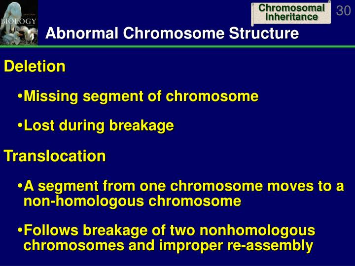 Abnormal Chromosome Structure