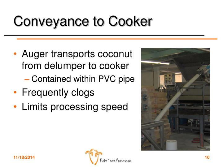 Conveyance to Cooker
