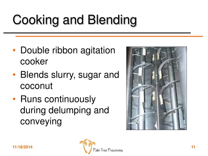 Cooking and Blending