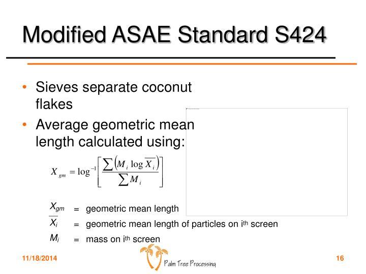 Modified ASAE Standard S424