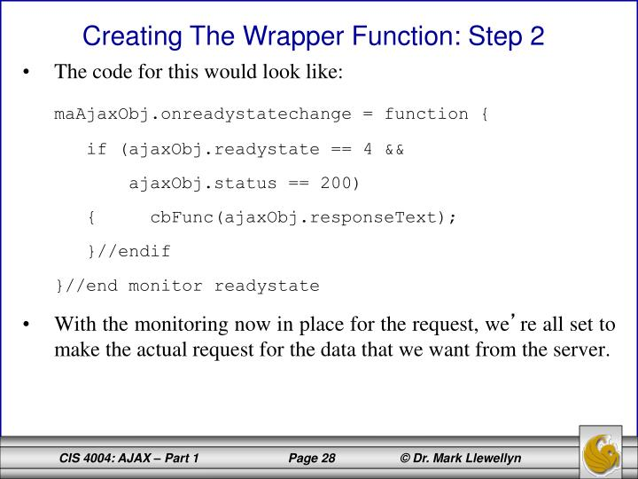 The code for this would look like: