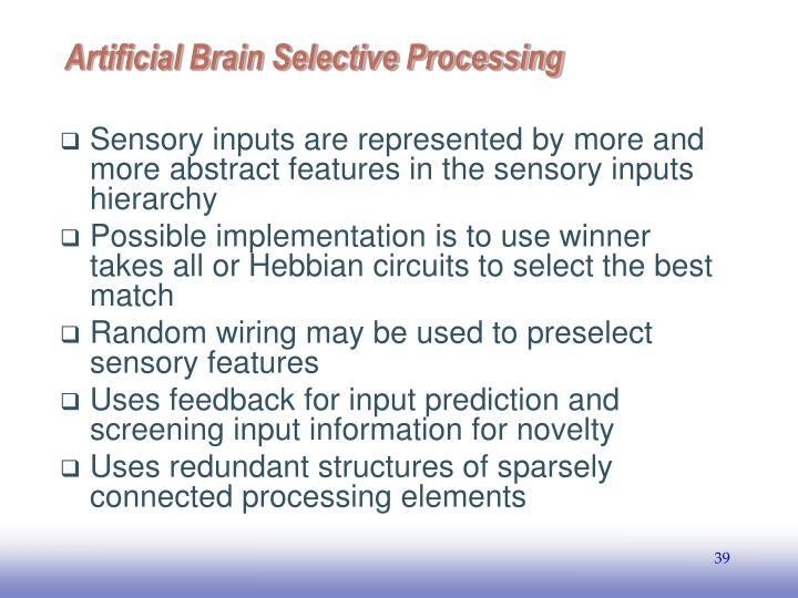 Artificial Brain Selective Processing