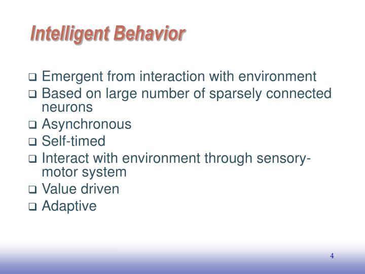 Intelligent Behavior