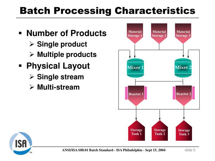 Batch Processing Characteristics