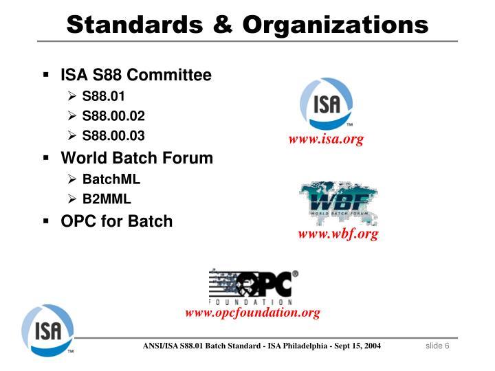 Standards & Organizations