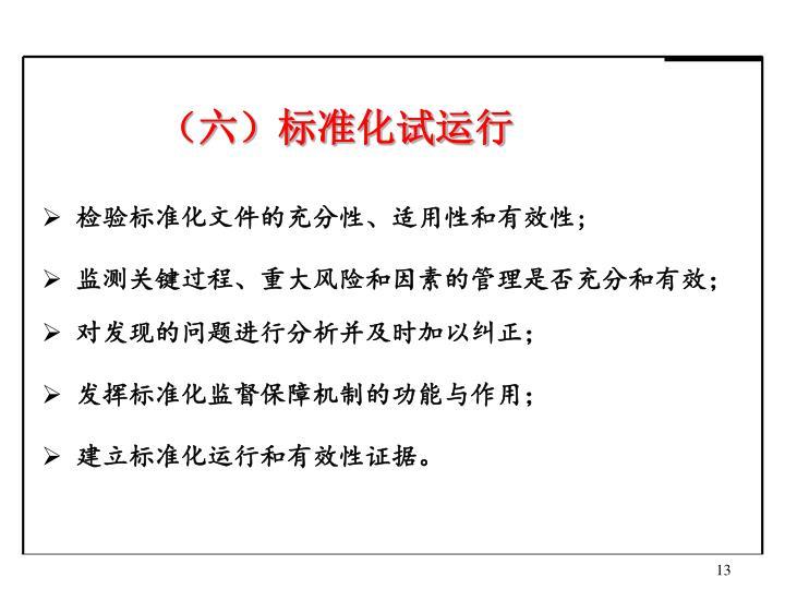 (六)标准化试运行