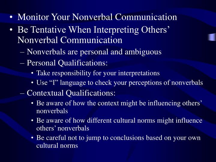 Monitor Your Nonverbal Communication