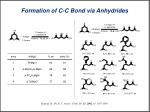 formation of c c bond via anhydrides2