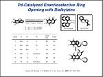 pd catalyzed enantioselective ring opening with dialkylzinc