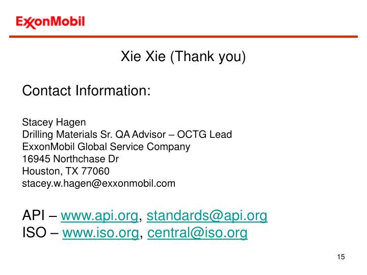 Xie Xie (Thank you)