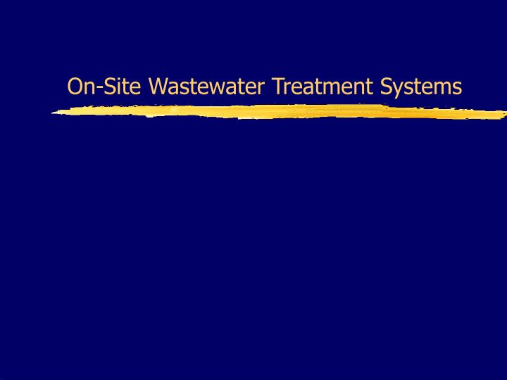 on site wastewater treatment systems n.